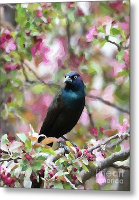 Metal Print featuring the digital art Among The Blooms by Betty LaRue