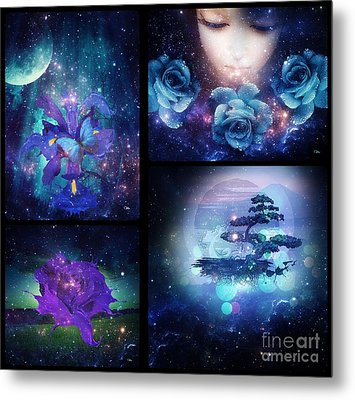 Metal Print featuring the digital art Among The Stars Series by Mo T