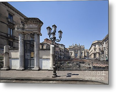 Amphitheater At Piazza Stesicoro Metal Print by Wolfgang Steiner