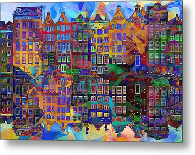 Amsterdam Abstract Metal Print by Jacky Gerritsen