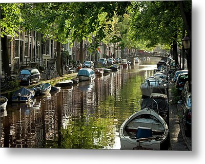 Amsterdam Canal Metal Print by Joan Carroll