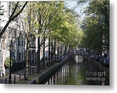 Metal Print featuring the photograph Amsterdam Canal by Wilko Van de Kamp