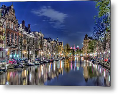 Amsterdam Reflections Metal Print