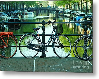 Metal Print featuring the photograph Amsterdam Scene by Allen Beatty