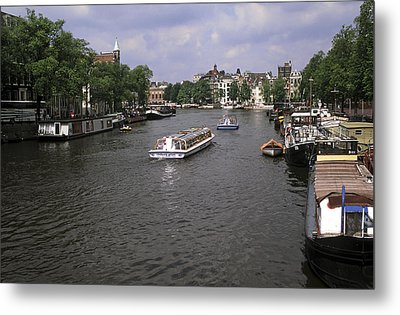Amsterdam Water Scene Metal Print by Sally Weigand