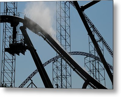 Amusement Park Abstract Metal Print by Frozen in Time Fine Art Photography