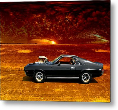Metal Print featuring the photograph Amx Road Warrior by Michael Cleere