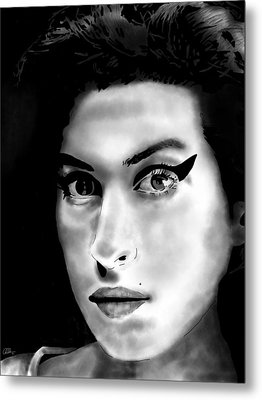 Amy Winehouse Metal Print by Penny Ovenden