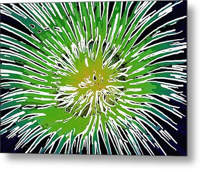 An Abstract Scene Of Sea Anemone 2 Metal Print by Lanjee Chee