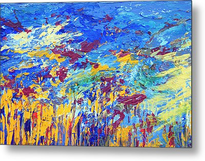 An Abstract Vision Under The Sea Metal Print