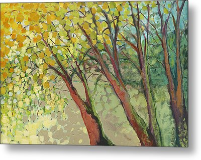 An Afternoon At The Park Metal Print by Jennifer Lommers