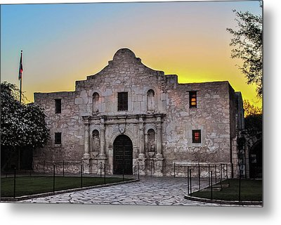 An Alamo Sunrise - San Antonio Texas Metal Print by Gregory Ballos