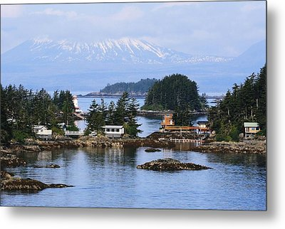 Metal Print featuring the photograph An Alaska Village by Laurinda Bowling