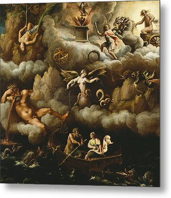 An Allegory Of Immortality Metal Print by Giulio Romano