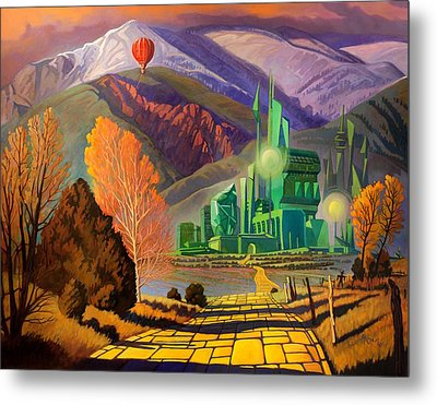Metal Print featuring the painting Oz, An American Fairy Tale by Art West