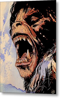 An American Werewolf In London Metal Print by Giuseppe Cristiano