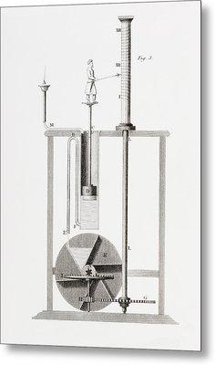 An Ancient Clepsydra Or Water Clock Metal Print