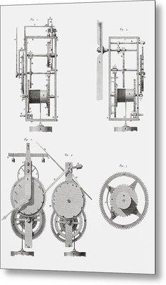 An Ancient Clock Built By Henry De Wick Metal Print