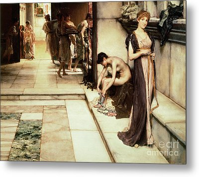 An Apodyterium Metal Print by Sir Lawrence Alma-Tadema