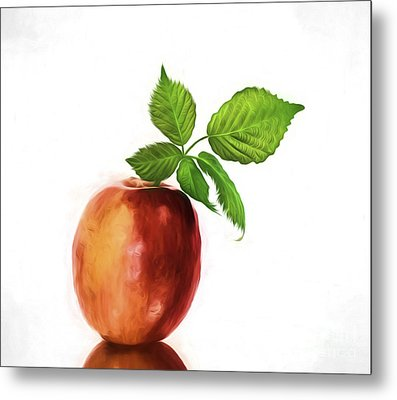 An Apple A Day Metal Print by Shirley Mangini