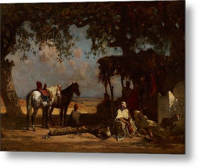 An Arab Encampment Metal Print by Gustave Guillaumet