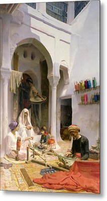 An Arab Weaver Metal Print by Armand Point