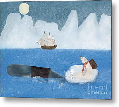Metal Print featuring the painting An Arctic Adventure by Bri B