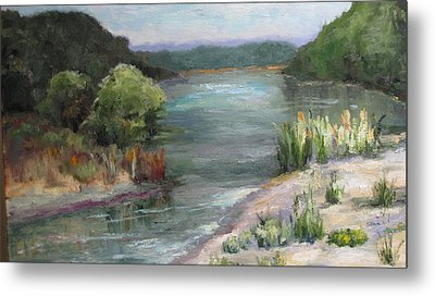 An Arkansas River Sandbar Metal Print
