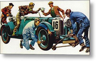 An Aston Martin Racing Car, Vintage 1932 Metal Print by Peter Jackson