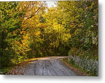 An Autumn Landscape - Hdr 2  Metal Print by Andrea Mazzocchetti