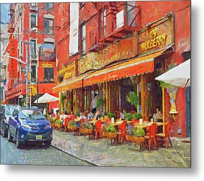 An Early Lunch On Mulberry Street Metal Print