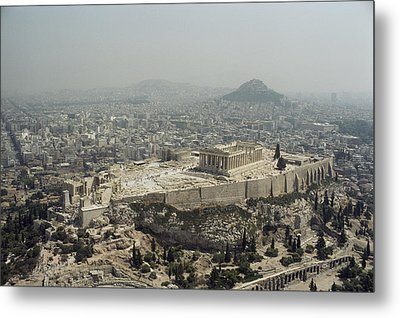 An Elevated View Of The Parthenon Metal Print by James P. Blair