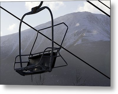 An Empty Chair Lift At A Ski Resort Metal Print by Tim Laman