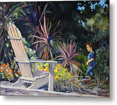 An Empty Chair Metal Print by Richard  Willson