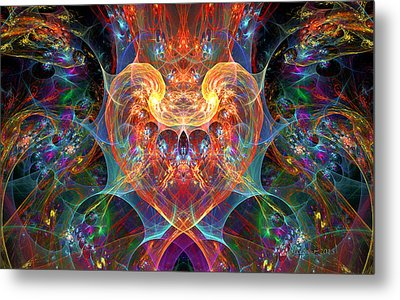 An Energetic Heart Metal Print by Peggi Wolfe