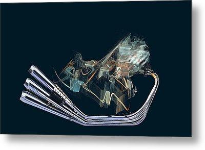 An Engine. Motorcycle Engine Metal Print by Viktor Savchenko