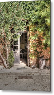 Metal Print featuring the photograph An Entrance In Santorini by Tom Prendergast