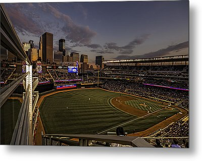 Metal Print featuring the photograph An Evening At Target Field by Tom Gort