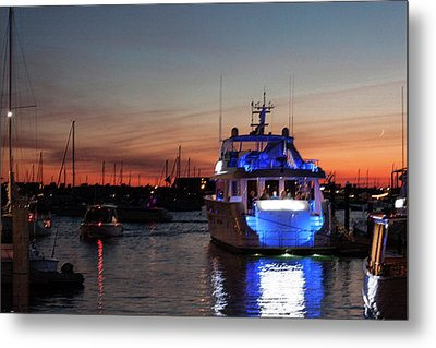 Metal Print featuring the photograph An Evening In Newport Rhode Island II by Suzanne Gaff