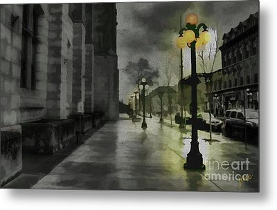 Metal Print featuring the mixed media An Evening In Paris by Jim  Hatch
