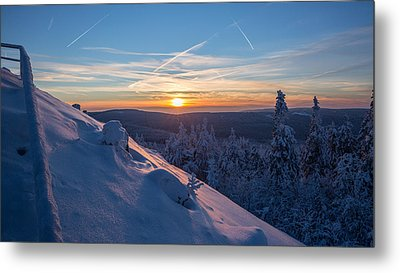 an evening on the Achtermann, Harz Metal Print by Andreas Levi