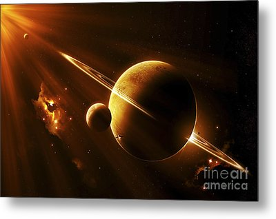An Extraterrestrial Spacecraft Metal Print by Kevin Lafin