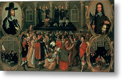 An Eyewitness Representation Of The Execution Of King Charles I Metal Print by John Weesop