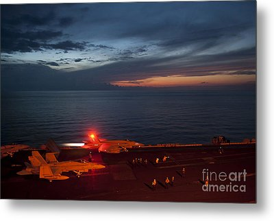 An F A-18 Launches Metal Print