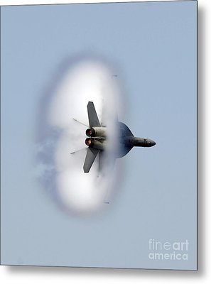 An Fa-18f Super Hornet Completes Metal Print by Stocktrek Images