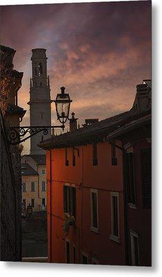 An Italian Sunset Metal Print by Carol Japp