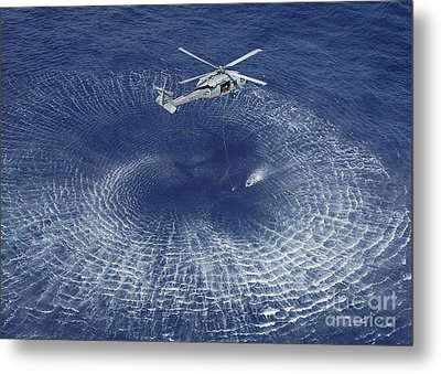 An Mh-60s Knight Hawk Prepares Metal Print by Stocktrek Images