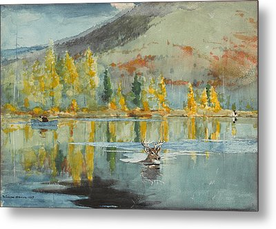 An October Day Metal Print by Winslow Homer