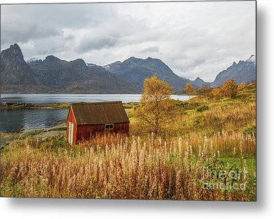 An Old Boathouse Metal Print