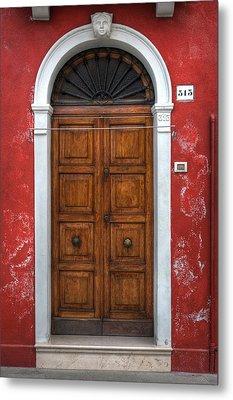 an old wooden door in Italy Metal Print by Joana Kruse